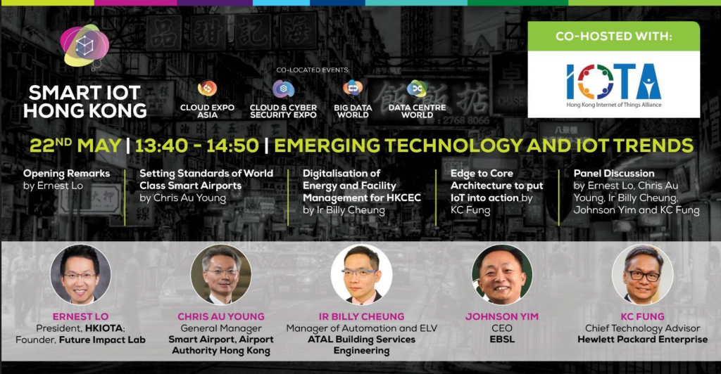 EBSL CEO Johnson Yim joined Smart IOT Hong Kong 2019 Panel Discussion